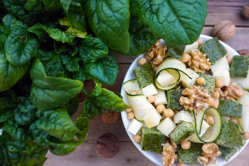 insalata ceci spinaci